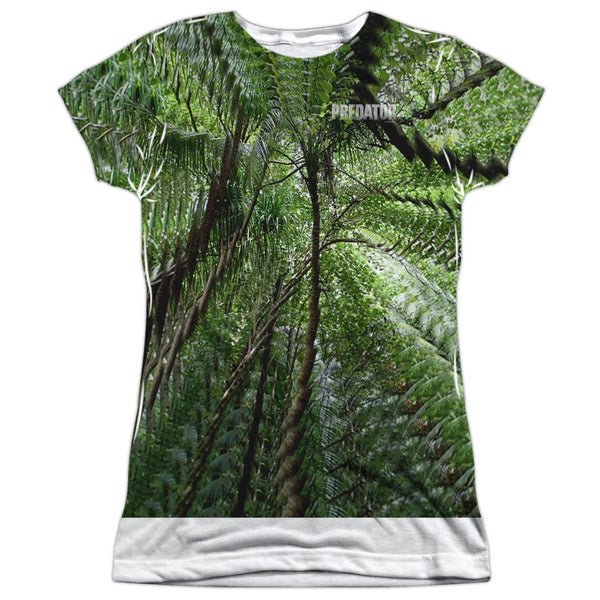 Predator/Active Camo Short Sleeve Junior Poly Crew in White