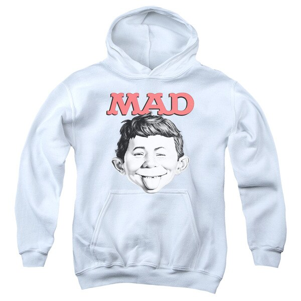 Mad/U Mad Youth Pull-Over Hoodie in White
