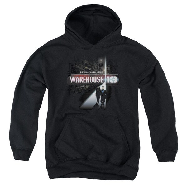 Warehouse 13/The Unknown Youth Pull-Over Hoodie in Black
