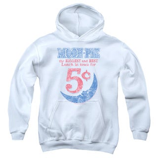 Moon Pie/ /Lunch Munch Youth Pull-Over Hoodie in White