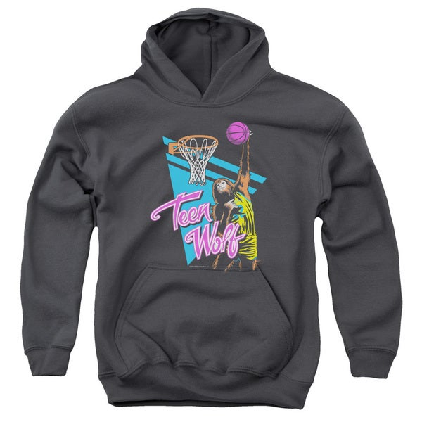Teen Wolf/Slam Dunk Youth Pull-Over Hoodie in Charcoal