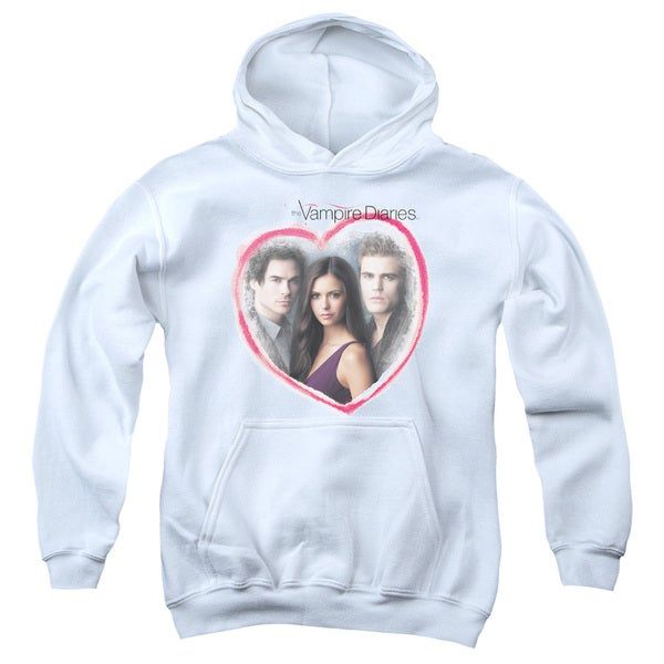 Vampire Diaries/Girls Choice Youth Pull-Over Hoodie in White