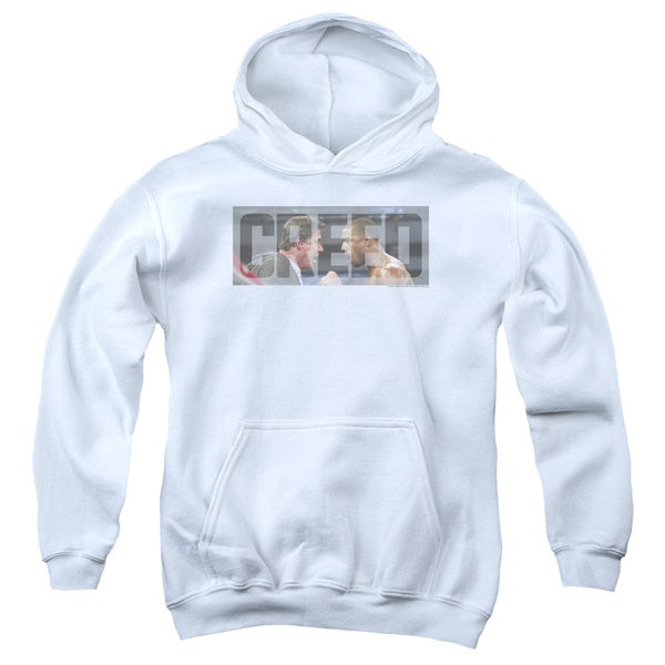 Creed/Pep Talk Youth Pull-Over Hoodie in White