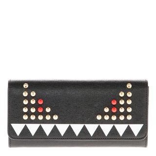 Fendi Studded Bag Bugs Crayons Wallet with Chain Strap