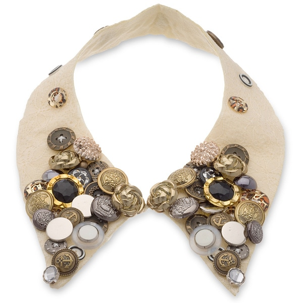 Adoriana Boho Collar Necklace - Cream
