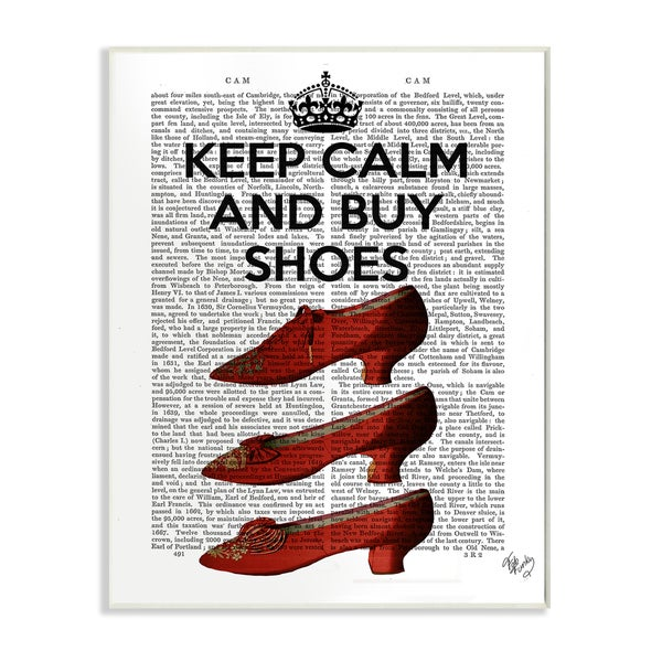 Keep Calm and Buy Shoes' Wall Plaque Art