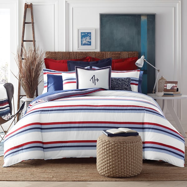Tommy Hilfiger Edgartown Striped Cotton 3-piece Comforter Set