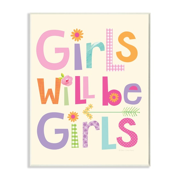 Girls Will Be Girls Wood-mounted Lithographic Print