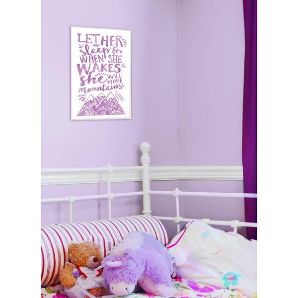 Let Her Sleep' Purple Mountains Wall Plaque Art