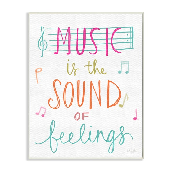 Music is the Sound of Feelings' Wood Wall Art Plaque
