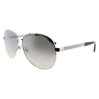 Jimmy Choo JC Lexie EJT Palladium Metal Aviator Silver Gradient Mirror Lens Sunglasses