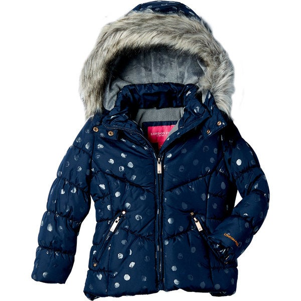 London Fog Girls' Fashion Quilt Coat
