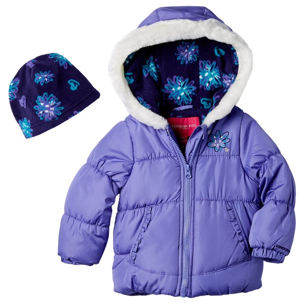 London Fog Toddler Girls' Jacket With Hat
