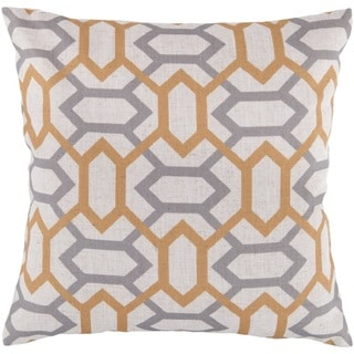 Decorative St.Mawes 18-inch Trellis Throw Pillow Cover