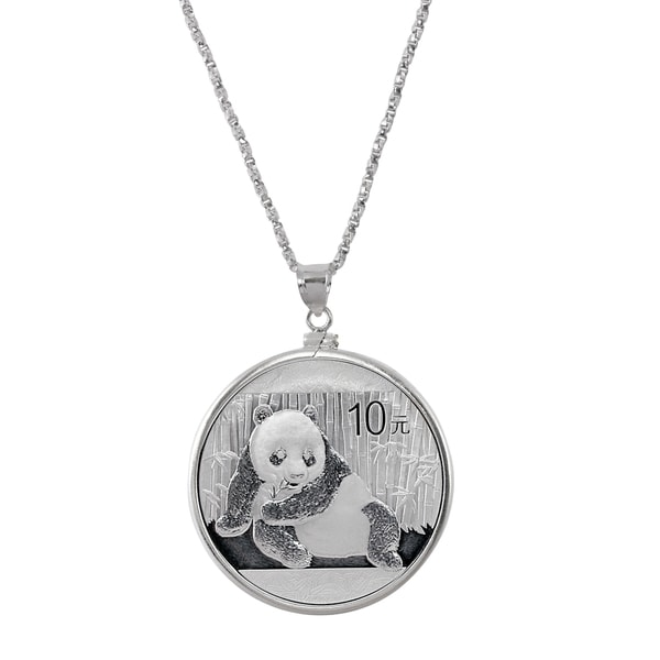American Coin Treasures Sterling Silver Necklace With Silver Panda Coin