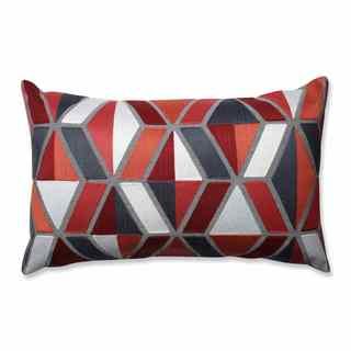 Pillow Perfect Darby Coral-Grey Rectangular Throw Pillow