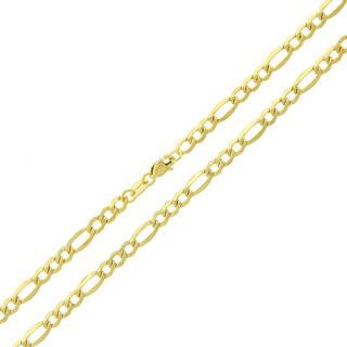 14k Gold 3.5mm Hollow Figaro Link Chain