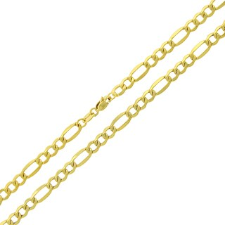 14k Gold 4.5mm Hollow Figaro Link Chain