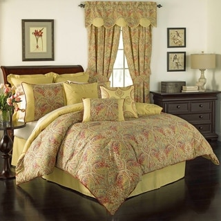 Waverly Swept Away 4-piece Reversible Paisley Printed Comforter Set