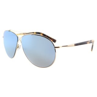 Tom Ford TF 374 28X Eva Pilot Rose Gold Metal Aviator Blue Mirror Lens Sunglasses