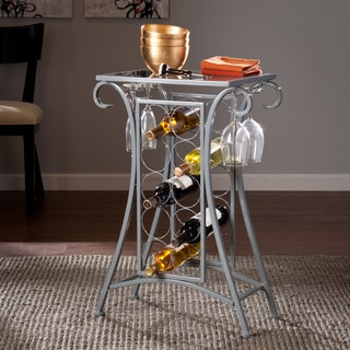 Upton Home Nancy Silver Wine Rack Table