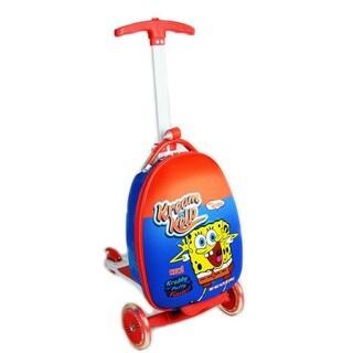 Nickelodeon SpongeBob Krabby Krispies Scootie Kids' Scooter Upright Suitcase