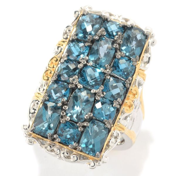 Michael Valitutti London Blue Topaz Cluster Ring