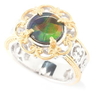 Michael Valitutti Ammolite Filigree Halo Ring