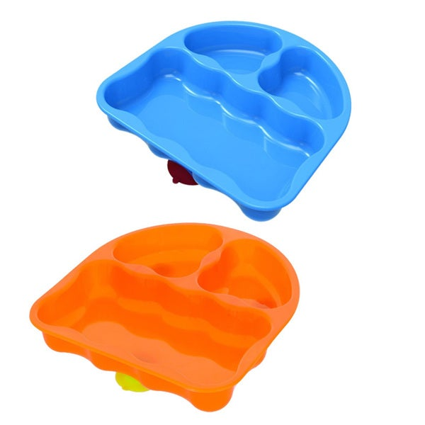 NUK Gerber Graduates Plastic and Silicone Pack of 2 Tri-suction Divided Plates 18699798