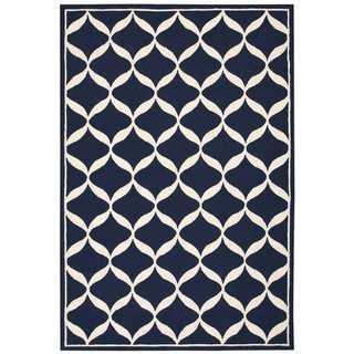 Nourison Decor Navy/White Rug (8' x 10')