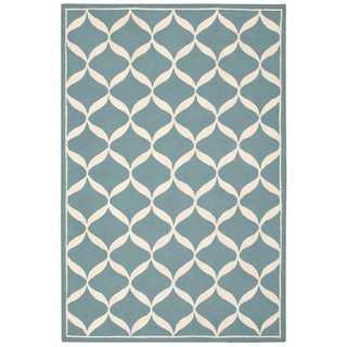 Nourison Decor Aqua/White Rug (8' x 10')