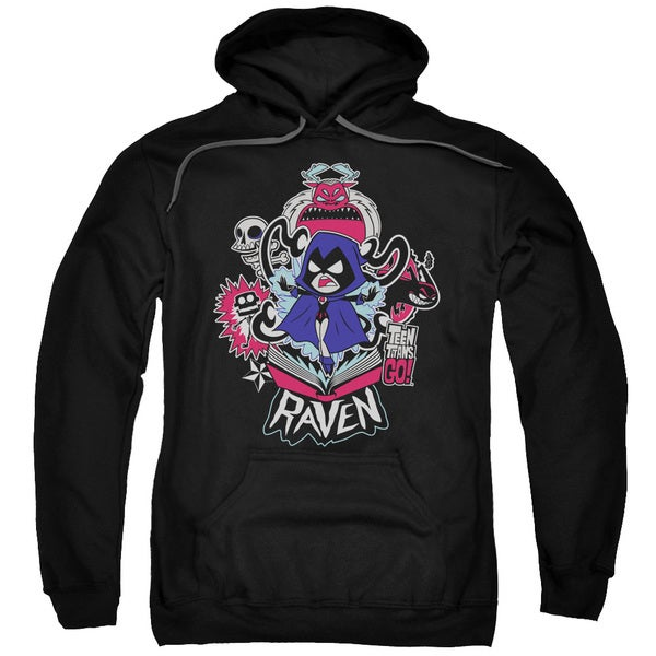Teen Titans Go/Raven Adult Pull-Over Hoodie in Black