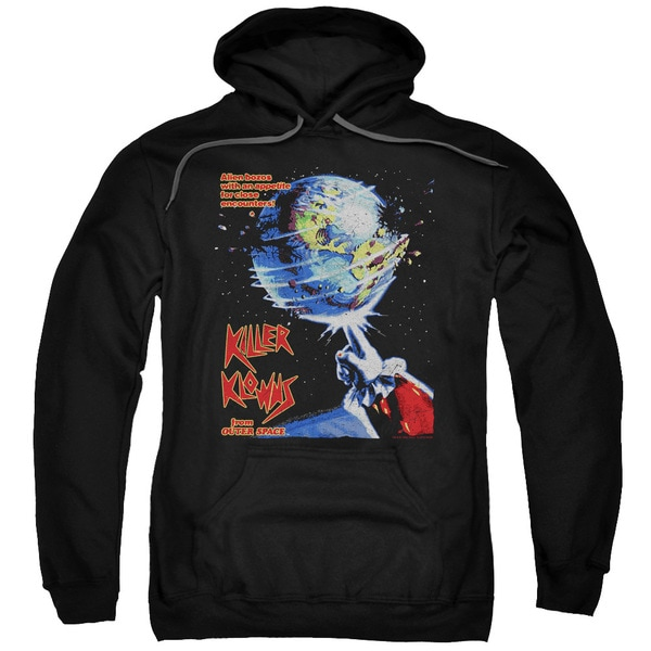 Killer Klowns From Outer Space/Invaders Adult Pull-Over Hoodie in Black