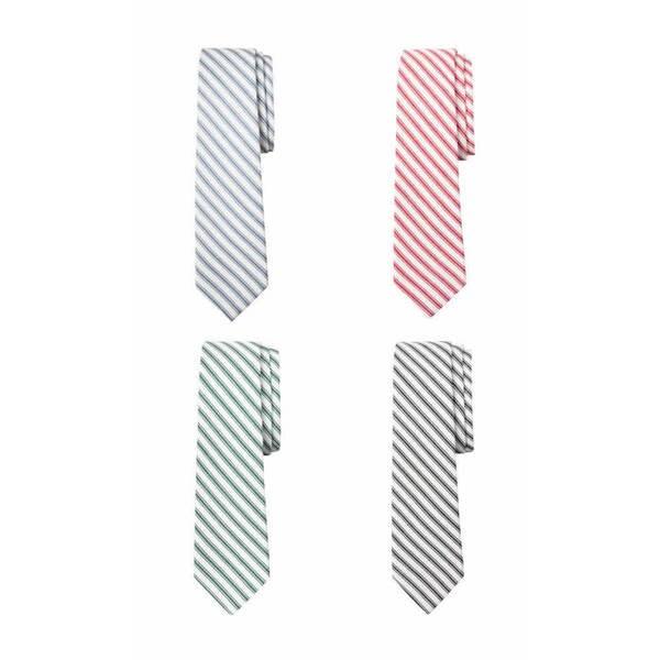 Track Stripe Cotton Tie