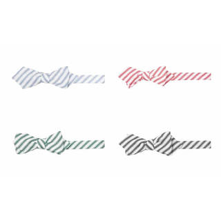 Cotton Track Stripe Diamond Tip Bowtie