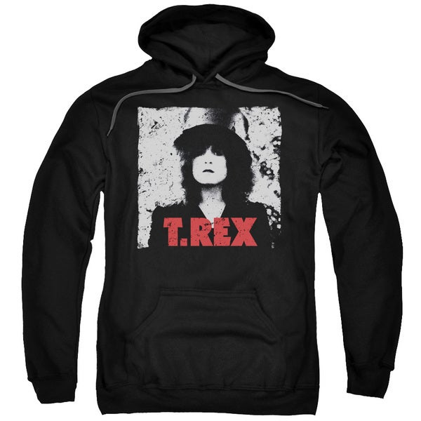 T Rex/The Slider Adult Pull-Over Hoodie in Black