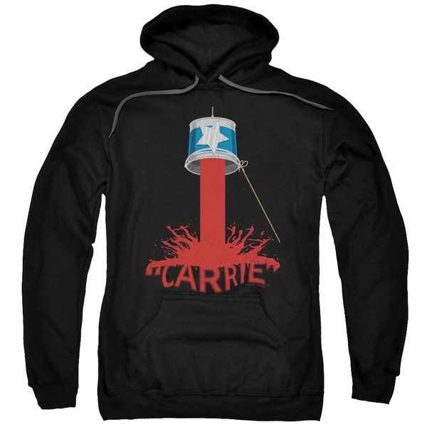 Carrie/Bucket Of Blood Adult Pull-Over Hoodie in Black