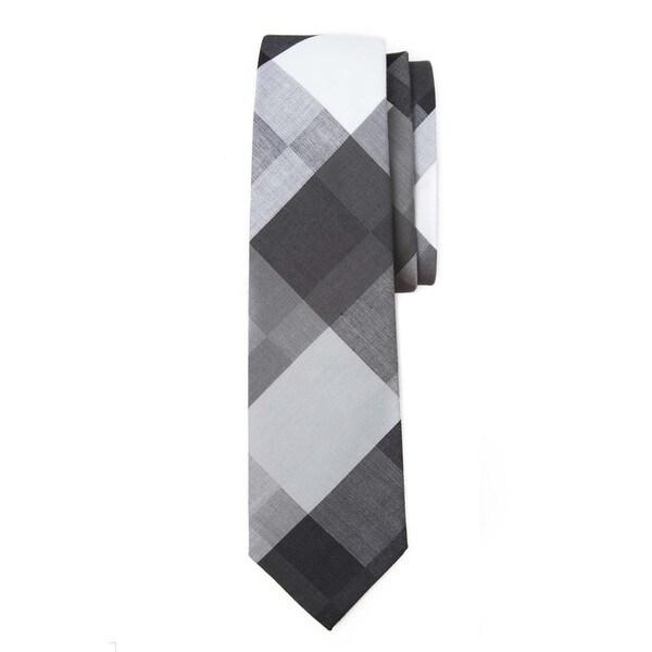 Large-scale Plaid Tie