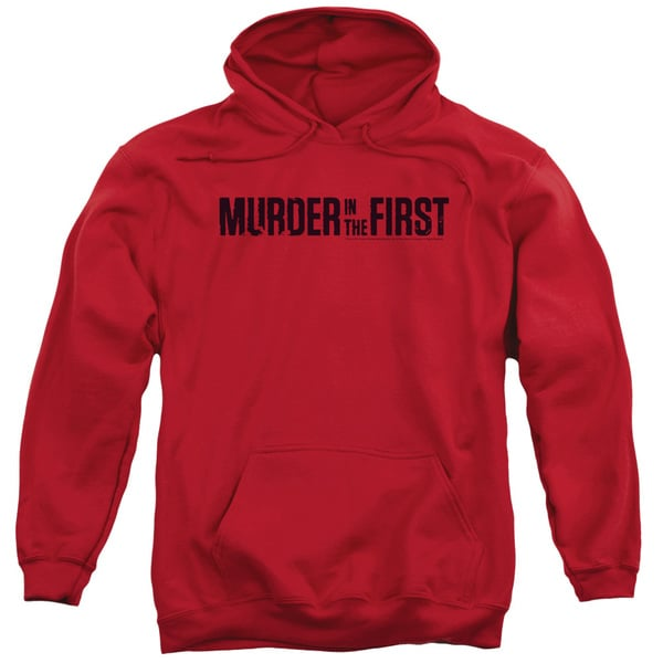 Murder in The First/Logo Adult Pull-Over Hoodie in Red