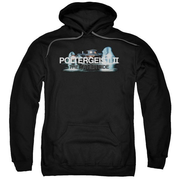 Poltergeist Ii/Logo Adult Pull-Over Hoodie in Black