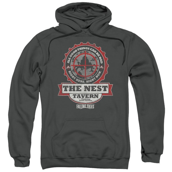 Falling Skies/The Next Adult Pull-Over Hoodie in Charcoal
