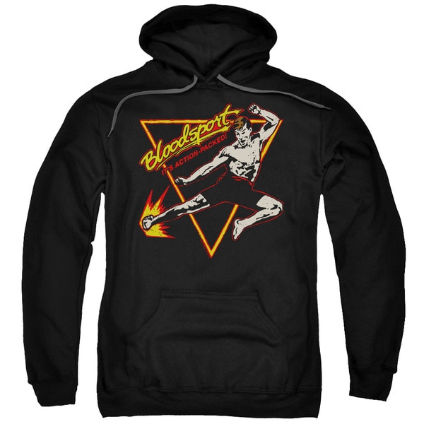 Bloodsport/Action Packed Adult Pull-Over Hoodie in Black