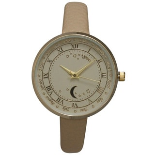 Olivia Pratt Women's Astronomical Wonders Genuine Leather Watch