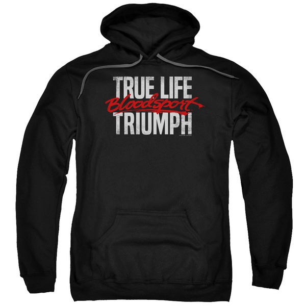 Bloodsport/True Story Adult Pull-Over Hoodie in Black