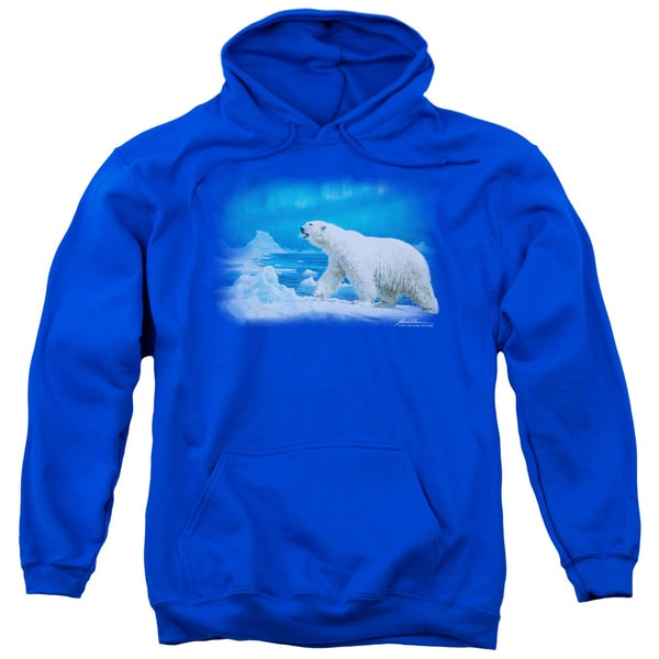 Wildlife/Nomad Of The North Adult Pull-Over Hoodie in Royal Blue