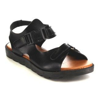 Nature Breeze EB17 Women's Ankle Strap Flatform Slip-on Wedge Sandals