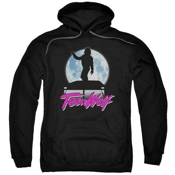 Teen Wolf/Moonlight Surf Adult Pull-Over Hoodie in Black
