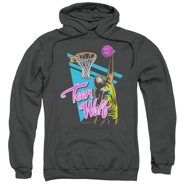 Teen Wolf/Slam Dunk Adult Pull-Over Hoodie in Charcoal