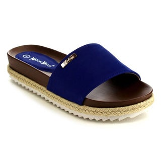 Beston Women's EB15 Lug Sole Flatform Sandals Size 7 in Blue(As Is Item)