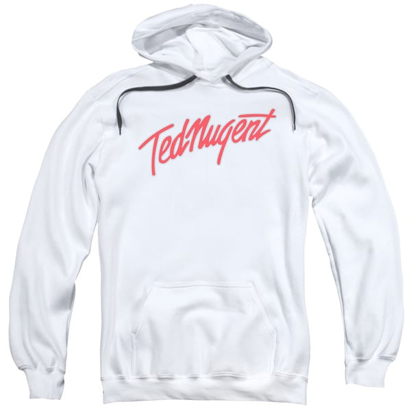 Ted Nugent/Clean Logo Adult Pull-Over Hoodie in White